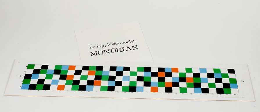 The Mondrian Game  1980  lithography  683 x 146 mm