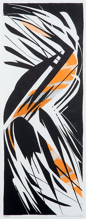 Zig zag  1957  lithography  163 x 417 mm